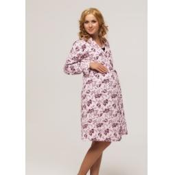 Купить Халат для беременных Nuova Vita 305.1. Цвет: розовый