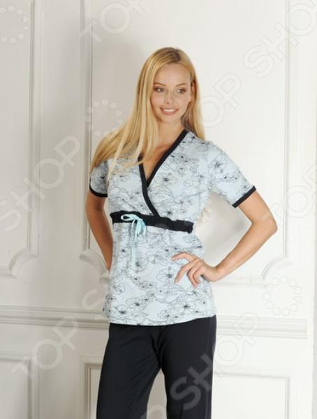 Пижама для беременных Nuova Vita 207.3. Цвет: голубой, синий