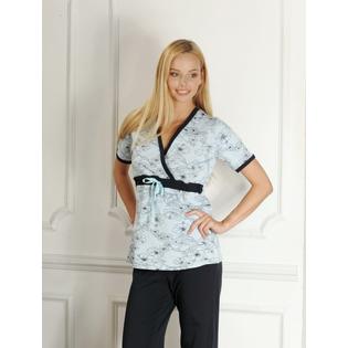 Купить Пижама для беременных Nuova Vita 207.3. Цвет: голубой, синий