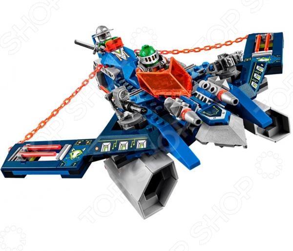 Конструктор LEGO «Аэроарбалет Аарона»Конструкторы LEGO<br>Конструктор LEGO Аэроарбалет Аарона отличный подарок для вашего малыша. Внутри яркой упаковки находится набор из 301 детали. Собрав все части воедино, у ребенка получится летательный аппарат Аарона Фокса, который своим внешним видом похож на арбалет. Кроме самого аппарата, в комплект входят фигурки рыцаря, его бота и крылатого Пеплометателя. Аэроарбалет может стрелять сразу из двух пружинных шутеров, а при необходимости разделяться на две боевые единицы, одной из которых управляет Аарон, а второй его бот. Против такого оружия не выстоит ни один лавовый монстр. В набор также входят щиты для сканирования, дающие 2 NEXO Силы: Ледяной дождь и Умный бластер. Конструкторы Lego развивают пространственное и логическое мышление, фантазию, творческие способности и мелкую моторику рук. А с каждым новым набором в коллекции будут расширяться варианты игровых сценариев.<br>