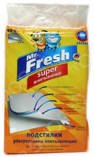 Подстилки для домашних животных Mr.Fresh Super повышенной впитываемости