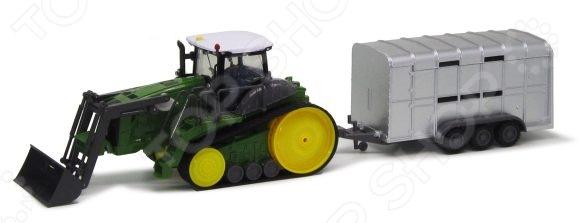 Машинка на радиоуправлении Пламенный Мотор 87572 трактор с ковшом пламенный мотор зелёный от 6 лет пластик 87572