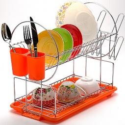 фото Сушилка для посуды Mayer&Boch Pretty. Цвет: оранжевый