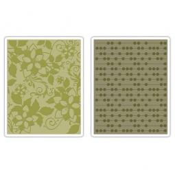 фото Форма для эмбоссирования Sizzix Textured Impressions Точки и цветы 657253