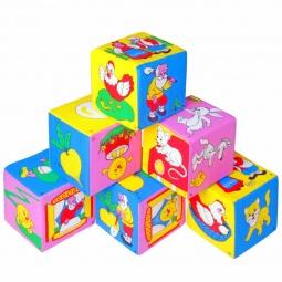 Купить Кубики обучающие мягкие Мякиши «Мультфильмы/сказки»