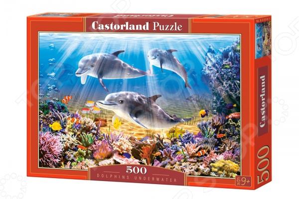 Пазл 500 элементов Castorland «Дельфины»