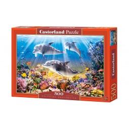 Купить Пазл 500 элементов Castorland «Дельфины»