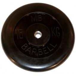 фото Диск MB Barbell для штанги. Диаметр отверстия диска: 31 мм. Вес в кг: 15 кг