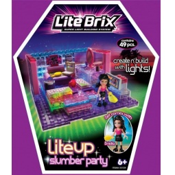 фото Конструктор игровой со световыми эффектами Lite Brix «Пижамная вечеринка»
