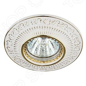 Светильник встраиваемый потолочный Эра KL50 WH/GD светильник светодиодный встраиваемый эра kl11a wh gd