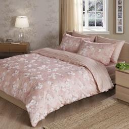 фото Комплект постельного белья TAC Shadow. 1,5-спальный. Цвет: розовый