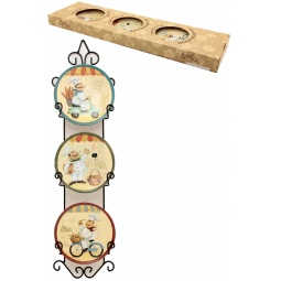Купить Набор из 3-х тарелок Elan Gallery «Веселые поварята»