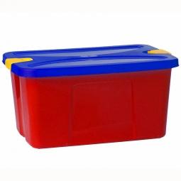 фото Ящик для игрушек IDEA «Секрет». Цвет: красный, синий