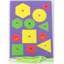 фото Игра развивающая для малыша El Basco «Шнуровка. Простые фигуры»