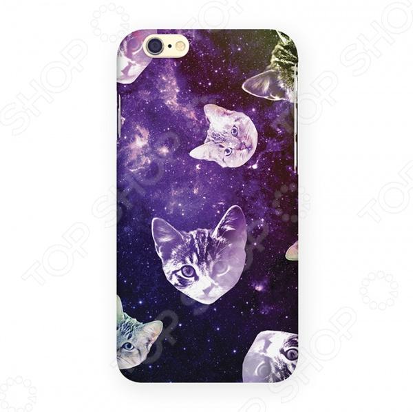 купить Чехол для iPhone 6 Mitya Veselkov «Кошки в космосе» недорого