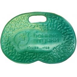 фото Коврик банный с надписью «Банные штучки». Цвет: зеленый