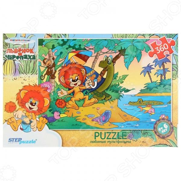 Пазл 360 элементов Step Puzzle Львенок и черепаха