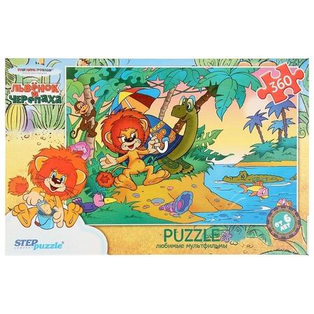 Купить Пазл 360 элементов Step Puzzle Львенок и черепаха