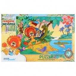 фото Пазл 360 элементов Step Puzzle Львенок и черепаха