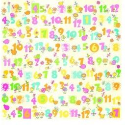 фото Бумага для скрапбукинга двусторонняя ScrapBerry's «Первые цифры»