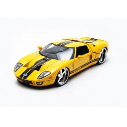 фото Модель автомобиля 1:24 Jada Toys 2005 Ford GT- Andrea Racing V. Цвет: желтый