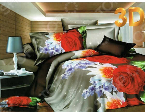 Комплект постельного белья с эффектом 3D Мар-Текс «Рузана». ЕвроЕвро<br>Комплект постельного белья с эффектом 3D Мар-Текс Рузана это удобное постельное белье, которое подойдет для ежедневного использования. Чтобы ваш сон всегда был приятным, а пробуждение легким, необходимо подобрать то постельное белье, которое будет соответствовать всем вашим пожеланиям. Приятный цвет, нежный принт и высокое качество ткани обеспечат вам крепкий и спокойный сон. 100 полиэстер, из которого сшит комплект отличается следующими качествами:  достаточно мягка и приятна на ощупь, не имеет склонности к скатыванию, линянию, протиранию, обладает повышенной гигроскопичностью, практически не мнется, не растягивается, не садится, не выгорает, гипоаллергенна, хорошо отстирывается и не теряет при этом своих насыщенных цветов;  современная фотопечать прекрасно передаёт цвет и мельчайшие детали изображения;  за счёт специального переплетения волокон ткань устойчива к механическим воздействиям. Ткань устойчива к механическим воздействиям. Перед первым применением комплект постельного белья рекомендуется постирать. Перед стиркой выверните наизнанку наволочки и пододеяльник. Для сохранения цвета не используйте порошки, которые содержат отбеливатель. Рекомендуемая температура стирки: 40 С и ниже без использования кондиционера или смягчителя воды.<br>