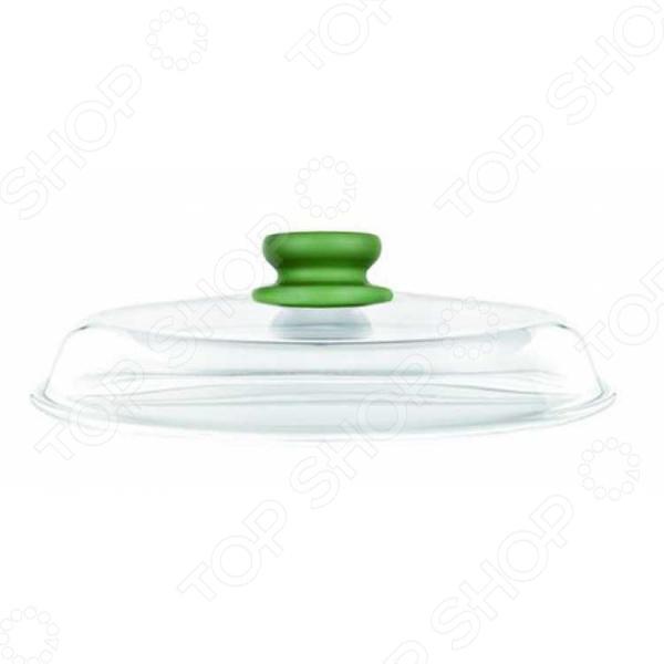 Крышка Risoli Dr.GreenКрышки для посуды<br>Крышка Risoli Dr.Green является отличным примером качества продукции своей компании. Выполненная из жаропрочного стекла, крышка позволяет закрывать кастрюлю или сковороду до время приготовления блюд. Еда готовится быстрее и получается вкусной и ароматной благодаря экологически чистым материалам изделия. Приятный запатентованный зеленый цвет бакелитовой ручки от Dupont выполнен в стиле Dr Green. Цветовое разнообразие кухонных приборов всегда положительно сказывается на настроении и помогает креативно подойти к решению вопросов кулинарии. В завершении списка плюсов можно добавить возможность мыть изделие в посудомоечной машине, что, несомненно, обрадует любую хозяйку.<br>