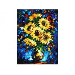 фото Набор для живописи на холсте Белоснежка «Ночные подсолнухи» 778-AS