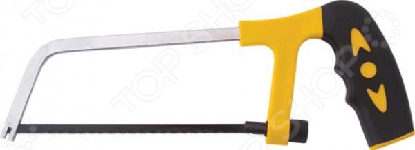 Ножовка по металлу FIT Юниор 40026Лобзики. Ножовки. Пилы<br>Ножовка по металлу FIT Юниор 40026 ручной инструмент, оснащенный пластиковой прорезиненной ручкой для удобного хвата, и рабочей частью из инструментальной стали. Есть регулировка натяжения режущей части при помощи гайки в задней части. Необходима в любом доме и предназначена для проведения слесарных или хозяйственно-бытовых работ.<br>