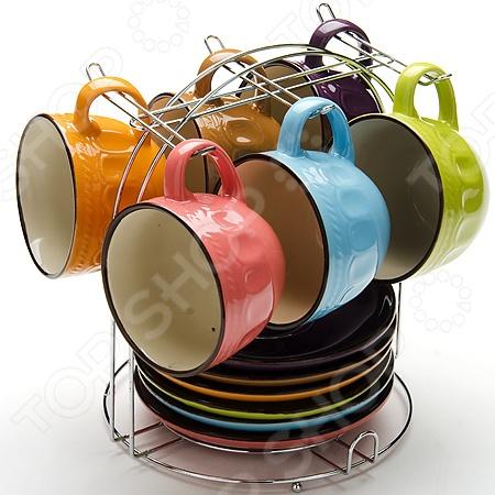 Набор чашек Mayer&amp;amp;Boch MB-24648Кружки. Чашки<br>Набор чашек Mayer Boch 24648 включает в себя 13 предметов: 6 чашек, 6 блюдец и металлическую подставку. Изящный дизайн чашек придется по вкусу ценителям классики. Такой набор чашек отлично подойдет для использования дома и в офисе. Посуда и кухонные принадлежности компании Mayer Boch это новое поколение кухонной посуды, которое создано ведущими мировыми специалистами с использованием самых современных технологий. Компания выпускает экологически чистые изделия с соблюдением международных норм безопасности, так что вы сможете использовать посуду и кухонные приборы в быту долгие годы без вреда для здоровья.<br>
