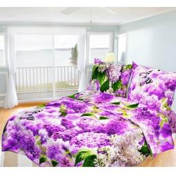 фото Комплект постельного белья Олеся «Сирень». 1,5-спальный