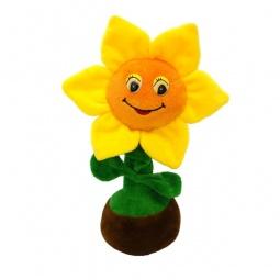 фото Мягкая игрушка со звуком Maxiplay «Солнечный цветочек в горшочке»