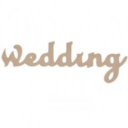 Купить Надпись для декупажа Кустарь «WEDDING»