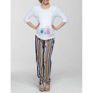 Купить Брюки для беременных Nuova Vita 5503.01. Цвет: белый, синий
