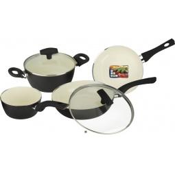 Купить Набор кухонной посуды c внутренним керамическим покрытием Vitesse «Black–and–White» VS-2902