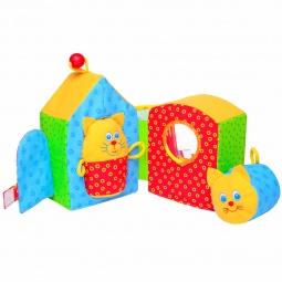 фото Мягкая развивающая игрушка Мякиши «Кошкин дом». В ассортименте