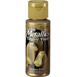фото Краска акриловая DecoArt Dazzling Metallics. Цвет: золотистый