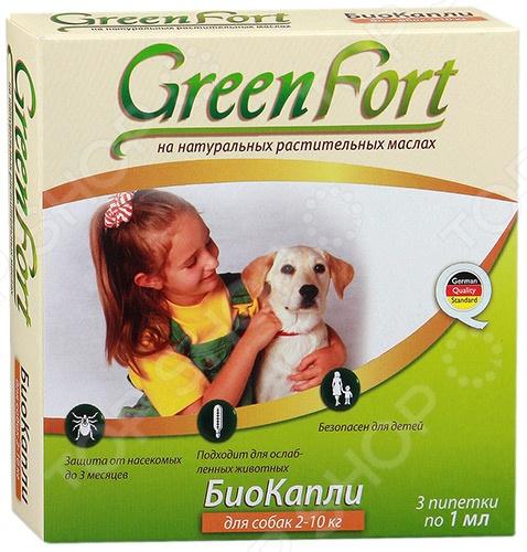 Ошейник для собак мелких пород от эктопаразитов Green Fort G104Ошейники для собак<br>Ошейник для собак мелких пород от эктопаразитов Green Fort G104 био-ошейник, представляет собой полимерную ленту с запахом, который обеспечит хорошую защиту от эктопаразитов. Поможет избавиться от блох, вшей, клещей, власоедов, комаров, мух и слепней. В состав входит композиция эфирных масел цитронеллы, гвоздики, лаванды, корицы , а также вспомогательные вещества. Фармакологические свойства веществ из ошейника обладают репеллентым действием. Как применять:  Предназначен для взрослых собак и щенкам с 4-x недельного возраста.  Можно использовать больным, ослабленным животным, а также для беременных и кормящих самок.  Подгоните ошейник по размеру на шею так, чтобы между ним и шеей животного оставался небольшое расстояние 1-1,5 см.  Питомец должен носить такой ошейник в течении нескольких месяцев.<br>