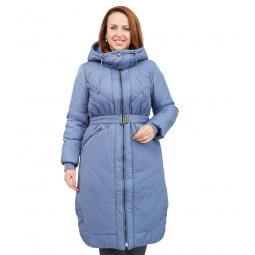 Пальто D`imma «Сюита». Цвет: серый, голубой