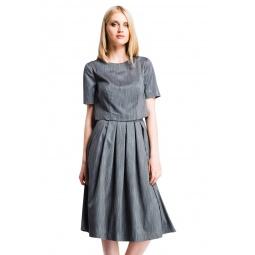 фото Блузка Mondigo 5200-1. Цвет: темно-серый. Размер одежды: 44