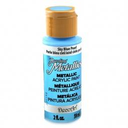 фото Краска акриловая перламутровая DecoArt Dazzling Metallics. Цвет: небесно голубой