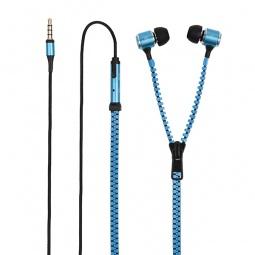 фото Гарнитура универсальная Muvit MuZip кабель-молния. Цвет: синий