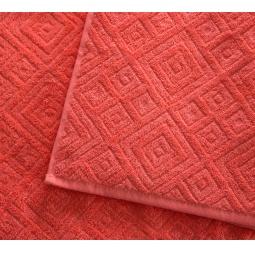 фото Полотенце махровое Asgabat Dokma Toplumy «Жаккард». Размер: 50х100 см. Цвет: коралловый