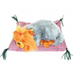 фото Мягкая игрушка интерактивная Zzz «Дышащий Йоркширский терьер на коврике»