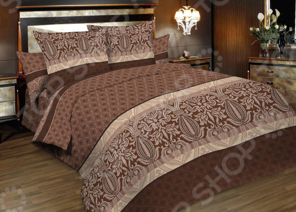 Комплект постельного белья Seta Verona Korin. 1,5-спальный1,5-спальные<br>Спальня один из важнейших уголков квартиры. Это место, где человек может отдохнуть и набраться сил после трудного рабочего дня, прочитать любимую книгу и просто побыть вместе со своей второй половинкой. Именно поэтому к оформлению спальной комнаты следует подходить с большой ответственностью. Комплект постельного белья Seta Verona Korin прекрасное решение для любой спальни. Вас приятно удивит сочетание высококачественного материала, теплой палитры цветов и изящного рисунка. Оттенки молочного и шоколадного привнесут в комнату особый уют, комфорт и гармонию, станут органичным продолжением любого интерьера.  Бязь качество, практичность, изысканность! Постельное белье изготовлено из натурального хлопка. Особое переплетение утолщенных нитей формирует шахматный узор, который хорошо просматривается на самом полотне. Так называемое бязевое плетение, определяет исключительные потребительские качества постельного белья:  высокую прочность;  износоустойчивость;  хорошую воздухопроницаемость;  легкость стирки и глажки;  приятную текстуру ткани;  длительную стойкость красок;  хорошие теплоизолирующие свойства. Хлопок прекрасно сохраняет температуру и впитывает влагу. Поэтому в летнее время вы будете ощущать приятную прохладу, а в холодный сезон обволакивающее тепло. Хлопок не содержит аллергенов это самый подходящий материал для людей, чувствительных к различным внешним раздражителям. Рекомендации по уходу  Перед стиркой следует вывернуть белье на изнаночную сторону.  Рекомендуется предварительно застирать пятна, если они есть.  Сушить без использования нагревательных элементов.  Глажка с изнаночной стороны ткань предварительно увлажнить . Создайте спальню своей мечты Комплект постельного белья от Seta залог комфортного сна и отдыха. Теперь каждая минута, проведенная в спальной комнате, будет вызывать исключительно приятные эмоции. А после пробуждения вас будут сопровождать лишь бодрость, хорошее самочувст