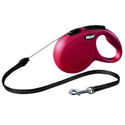 фото Поводок-рулетка Flexi New Classic S. Цвет: красный. Длина поводка: 8 м