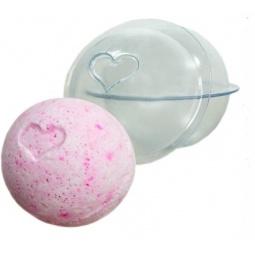 Купить Форма пластиковая для бомбочек Выдумщики «Сфера большая с сердечком»