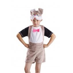 фото Костюм карнавальный для мальчика Карнавалия «Зайчик серый»