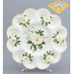 Купить Менажница для яиц Elan Gallery «Белый шиповник» 740133