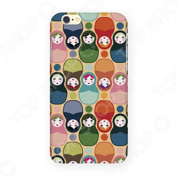Чехол для iPhone 6 Mitya Veselkov «Матрешки» чехол для iphone 6 глянцевый printio сад на улице корто сад на монмартре ренуар